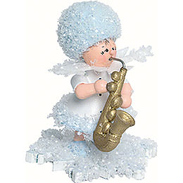 Snowflake with Saxophone  -  5cm / 2 inch