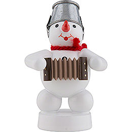 Snowman - Musician with Accordion  -  8cm / 3 inch