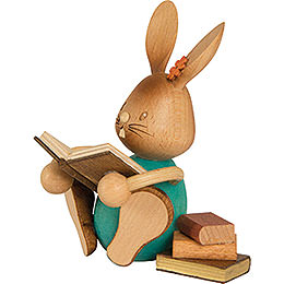 Snubby Bunny with Books  -  12cm / 4.7 inch