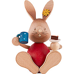 Snubby Bunny with Cake  -  12cm / 4.7 inch