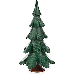 Solid Wood Tree  -  Green  -  12,5cm / 4.9 inch
