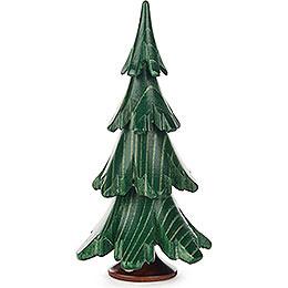 Solid Wood Tree  -  Green  -  9cm / 3.5 inch