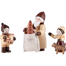Thiel Figurines  -  The Giving  -  natural  -  Set of Four  -  6,5cm / 2.6 inch