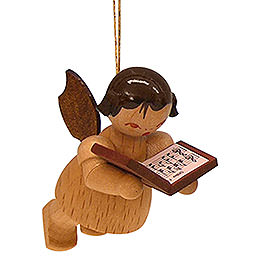 Tree Ornament  -  Angel with Book  -  Natural Colors  -  Floating  -  5,5cm / 2,1 inch