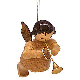 Tree Ornament  -  Angel with Trumpet  -  Natural Colors  -  Floating  -  5,5cm / 2,1 inch
