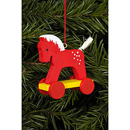 Tree Ornament  -  Horse Red  -  4,4x8,4cm / 2x3 inch