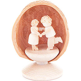 Walnut Shell with Dancing Couple  -  5cm / 2 inch