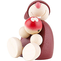 Wight with Apple, sitting  -  Red  -  7,5cm / 2 inch