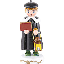 Winter Children Church Singers with Lantern  -  7cm / 3 inch
