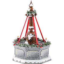 Winter Children Fountain with Electric Lights  -  12cm / 4.7 inch
